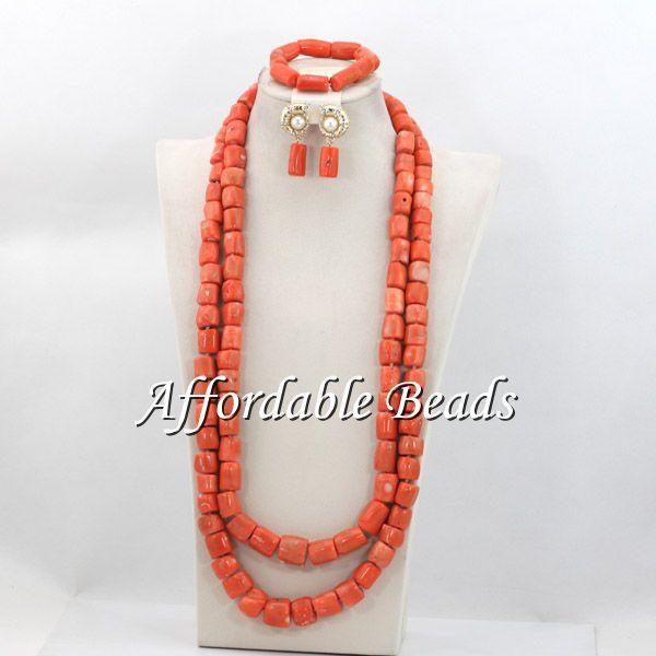 Fashion Bridal Beads Nigerian Set New African Coral Jewelry Set Wholesale Handmade Design CN120Fashion Bridal Beads Nigerian Set New African Coral Jewelry Set Wholesale Handmade Design CN120