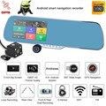 """Android de Doble Lente de 5 """"HD 1080 P Coche DVR de Navegación GPS Espejo Retrovisor Con Cámara Wifi"""