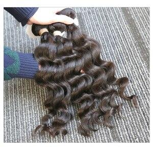 Image 1 - Rosabeauty extensiones de cabello 10A, 3 en oferta de extensiones de cabello Natural, pelo virgen indio suelto, paquete de ondas profundas, 100%, extensión de cabello humano de 10  28 pulgadas