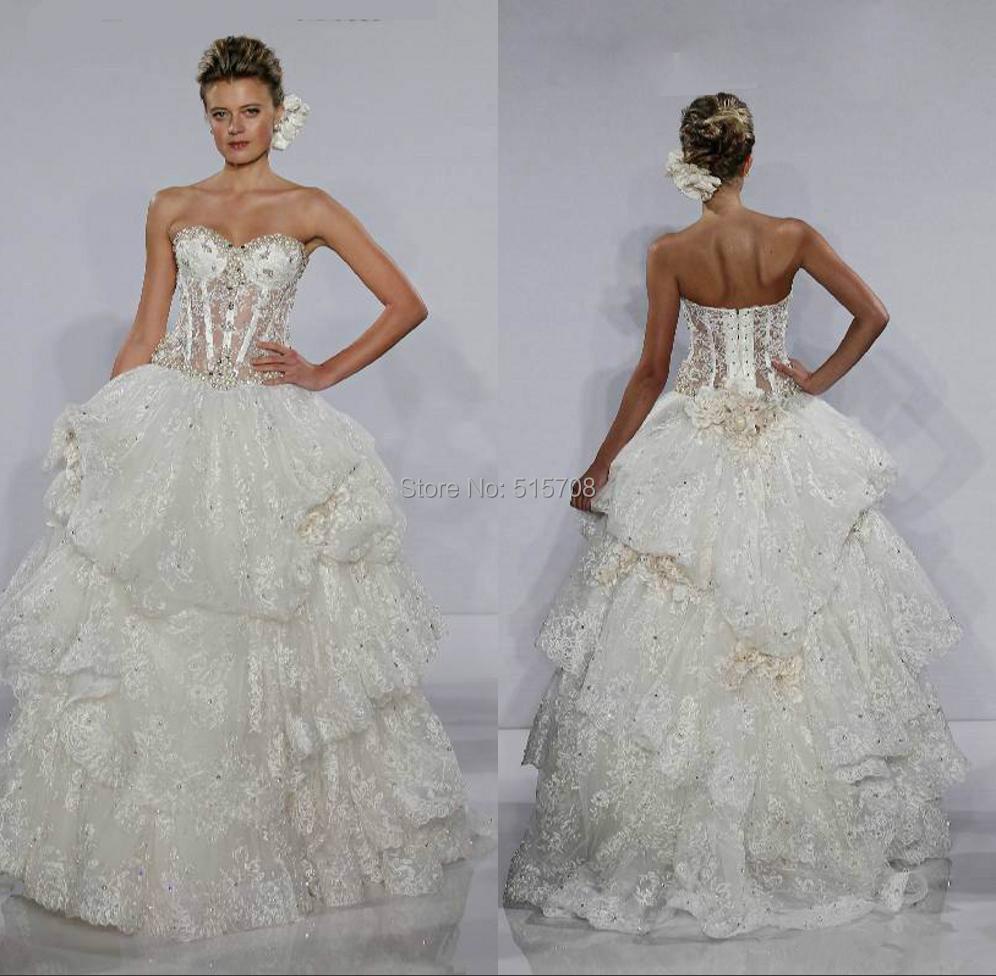 Popular pnina tornai ball gown buy cheap pnina tornai ball for See through corset top wedding dress