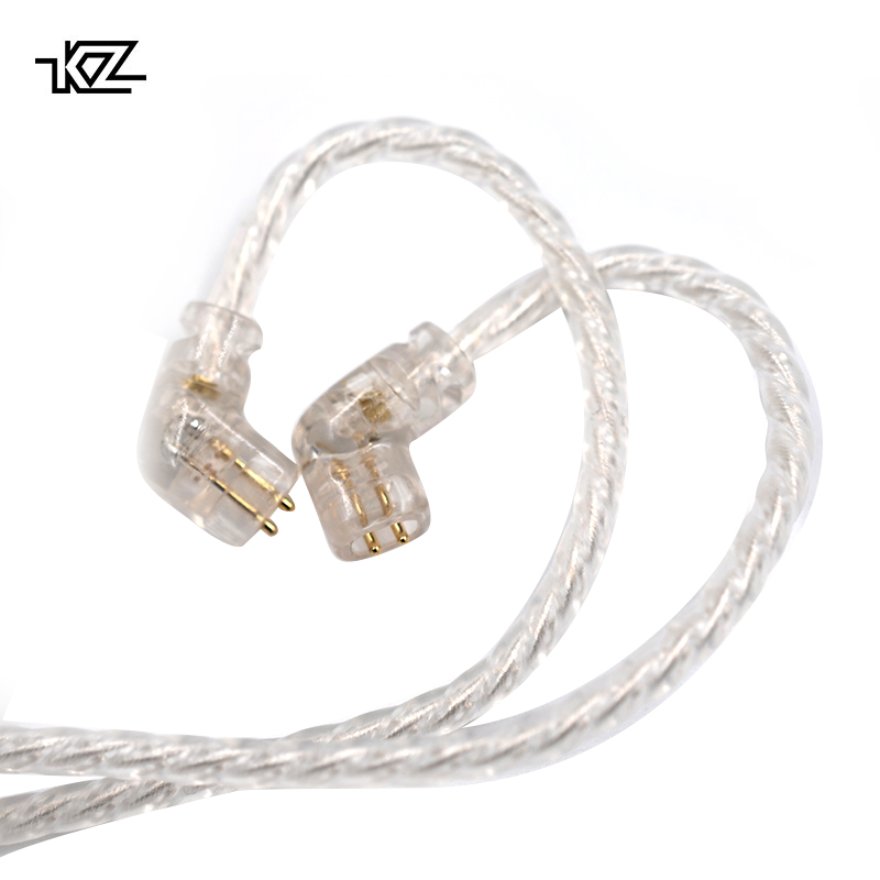 KZ ZSN Replaceble Silver Plated Upgraded Cable With 3.5mm 2Pin Connector KZ ZSN Dedicated Cable Only Use For KZ ZSN ZSN PRO