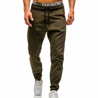 Brand Male New Fashion 2018 Slim Solid Color Men Casual Pants Man Trousers Designer Mens Joggers