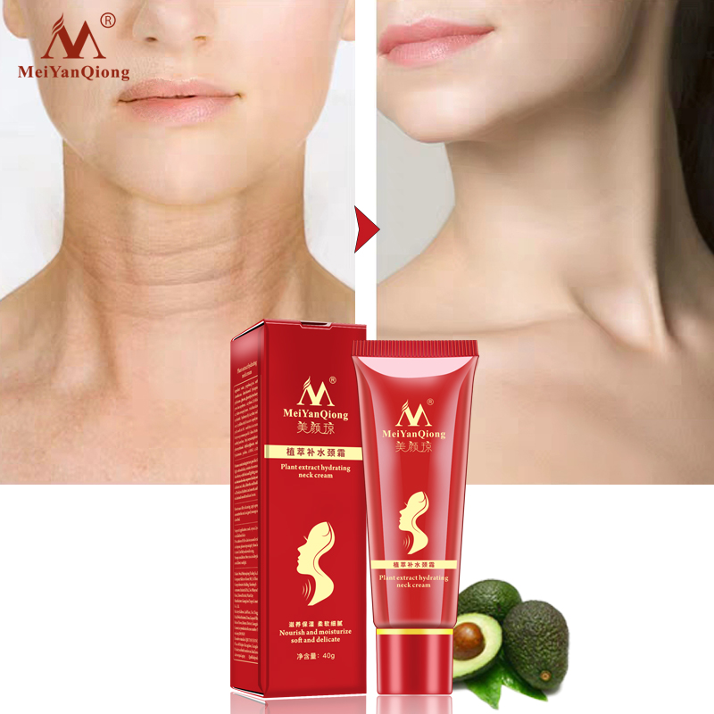 New Shea Butter Extract Hydrating Neck Cream Nourish Moisturizing Soft Delicate Fade Fine Lines Reduce Double Chin Neck Care