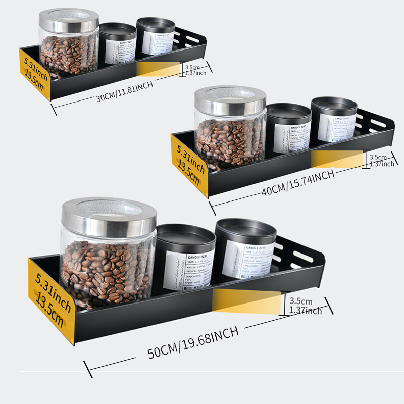 Wall Mount Aluminum Spice Racks and Kitchen Organizer with Spoon Hanger Hook 1