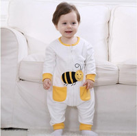Androktones Newborn Infant Baby Clothes Pure Cotton Lovely Bees Romper Hooded Jumpsuit Onesie Cosplay Boys Girls