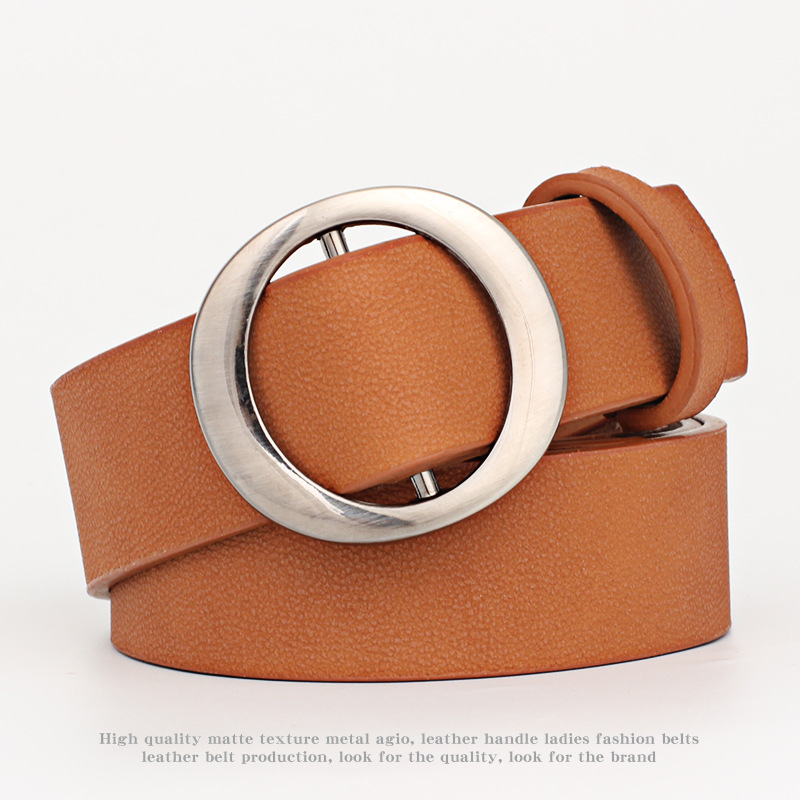Women's Star Hollow Belt For Woman PU Leather Female Belts Jeans Dresses Accessories With Round Metal Buckle Adjustable Belts