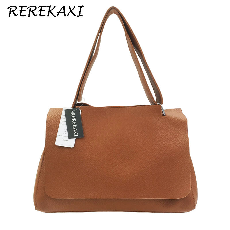 REREKAXI Fashion Casual Designer Women Bag PU Leather Women Top-handle Bag Clutch Single Shoulder Bag Women Crossbody Bag