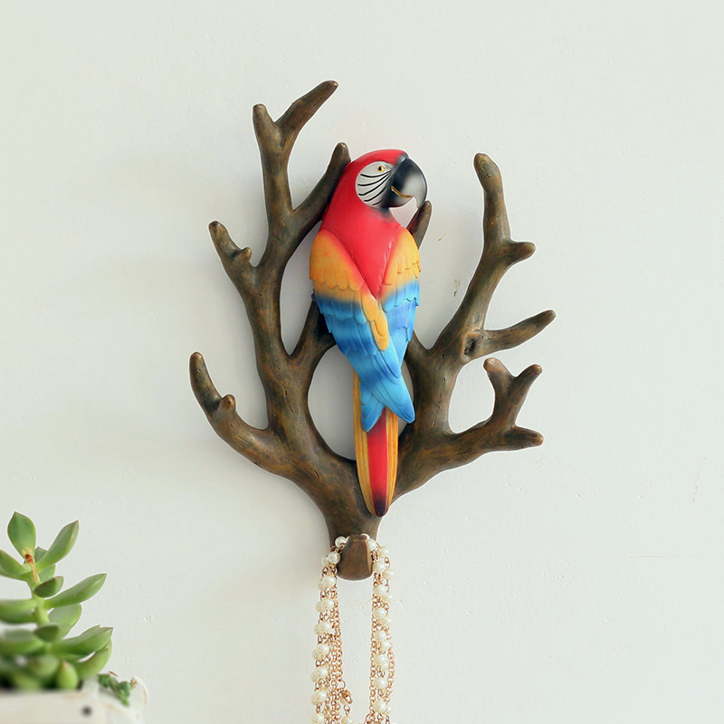 Kreativní americké větve pták domácí dekorativní háček veranda oděvy osobnost keyrack non-trace závěsné metope
