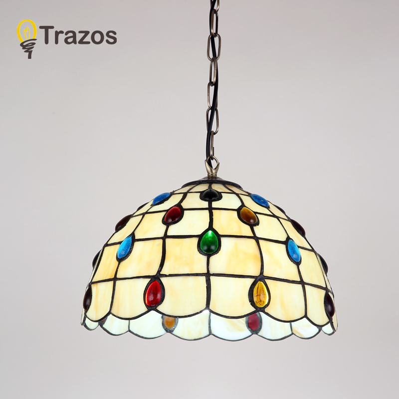Tiffany Mediterranean Style Natural Shell Pendant Lights Lustres Night Light  Led Lamp Floor Bar Home Lighting Free Shipping In Pendant Lights From Lights  ...