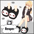 Japanese Anime Game OW Reaper Cute Indoor Slippers Warm Soft Shoes Plush Antiskid Home