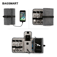 BAGSMART Hot Sale USB Cable Charger Tote Case Storage Bag Portable Digital Accessories Gadget Devices Travel Organizer Bags|Travel Accessories|   -