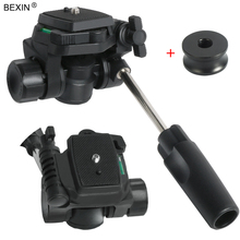 BEXIN flexible protable panoramic 360 degree rotate 3-way tripod heads dslr camera handle video head DSLR Tripod Monopod