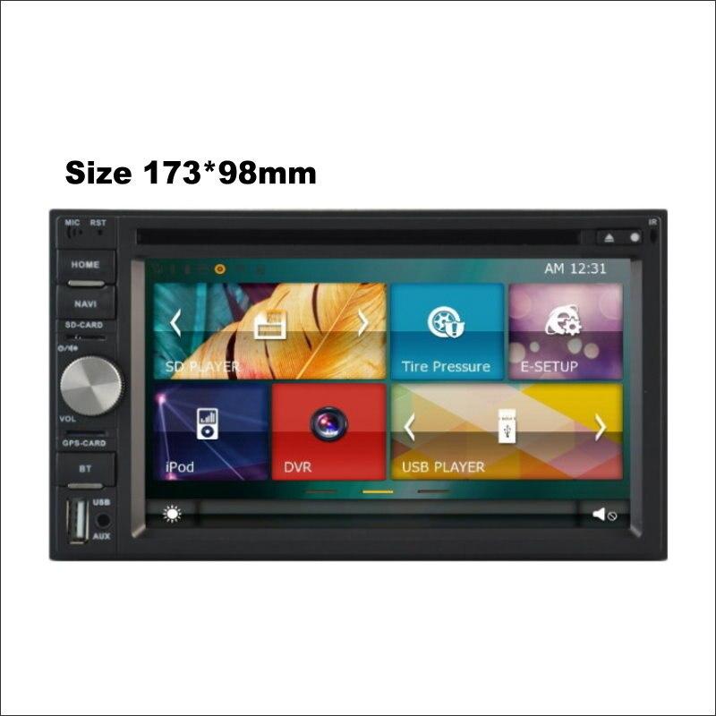 173*98mm autoradio lecteur CD DVD ampli BT HD écran TV GPS Navi Navigation Audio vidéo stéréo système multimédia