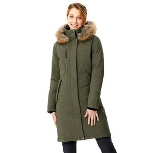 Image 3 - RUNNING RIVER marka kobiety w połowie uda zima piesze wycieczki i Camping dół kurtki 4 kolory 5 rozmiary z kapturem odkryty sportowy płaszcz # D8141
