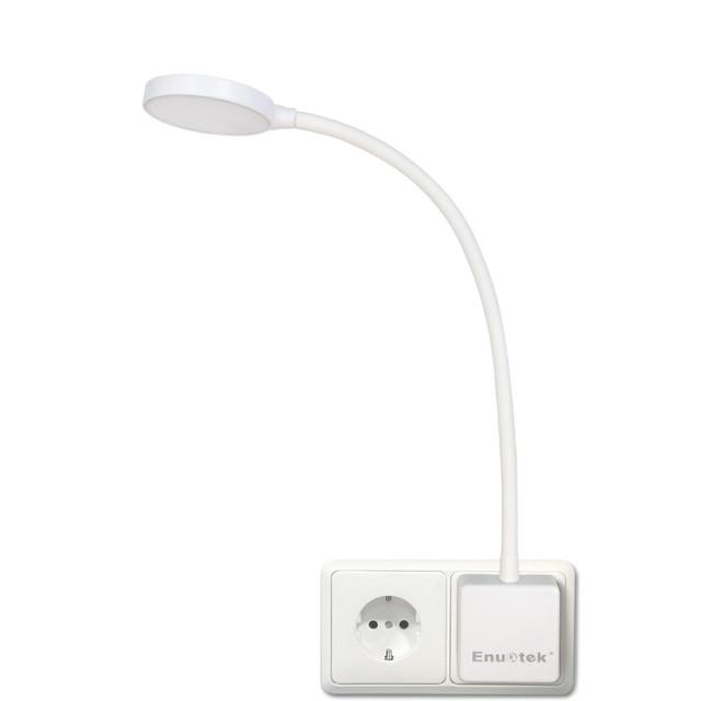 Luz LED de pared con enchufe regulable, lámpara de noche con brazo oscilante y enchufe de salida de potencia de 4W, 350LM, iluminación blanca Natural de 5000K