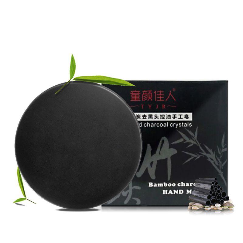1pcs Bamboo Charcoal Handmade Soap Treatment Skin Care Natural Skin Whitening Soap Blackhead Remover Acne Treatment