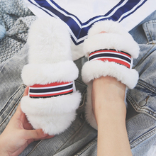 Winter House Slippers for Women Striped Home Indoor Non-slip Shoes Woman Soft Plush Cotton Slipper Warm Women's Shoes Female все цены