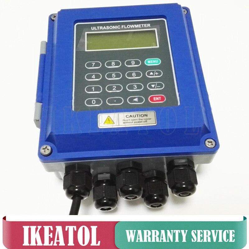 TUF-2000B débitmètre À Ultrasons DN50mm-DN700mm mural type débitmètre liquide ultrasonique IP67 protection TM-1 Transducteur