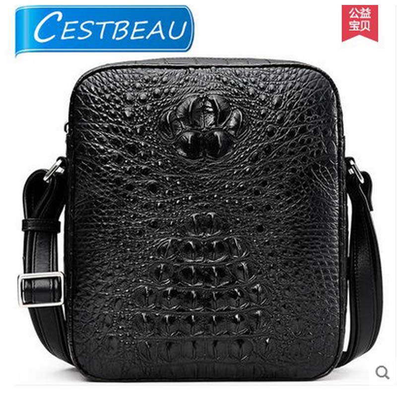 cestbeau aligator skin men handbag Single shoulder bag Cross-bag men bag business crocodile leather leisure 2017 new style tihinco new authentic crocodile handbag single shoulder bag leather male fashion business and leisure bag document package