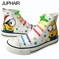 JUP  Men Female New Cartoon Despicable Me 2 Minion Shoes Couples Males Breathable Rubber Sole Casual Lazy Shoelace Gift Footwear