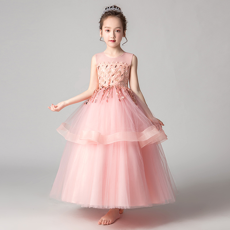 It's YiiYa   Flower     Girl     Dress   for Wedding Sweet Lace Princess   Dress   Sequine Tassel Kid Party Communion   Dress   Elegant 2019 CK2981