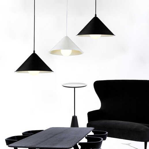 Luces colgantes, lámpara colgante de hierro con geometrías hipotenciosa, luces colgantes de cono para comedor, lámparas colgantes modernas para restaurantes