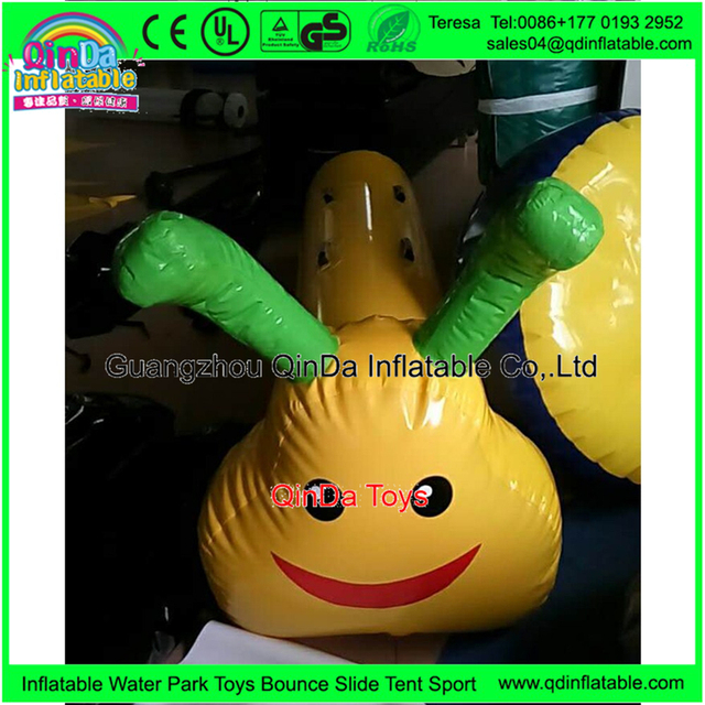 3 Seats Inflatable Beach Toy Inflatable Caterpillar Toy Eco-friendly Ocean Ball Pool Carpenterworm Ride Child Beach Game