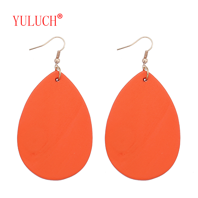 YULUCH 2018 Vintage ethnic accessories new color wood chip drop pendant for African woman fashion jewelry earrings gift