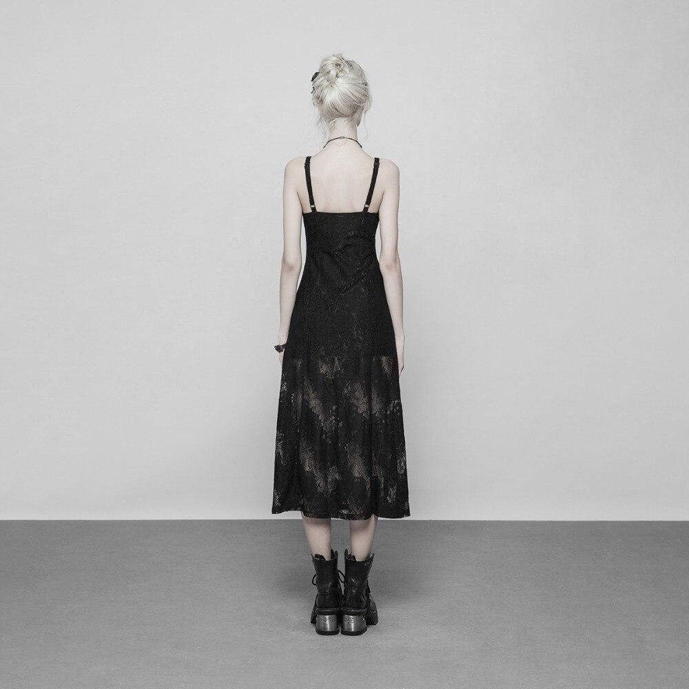 PUNK RAVE Fake Two Pieces Capped Dresses Hoodie Slim Lantern Sleeve Short Dress