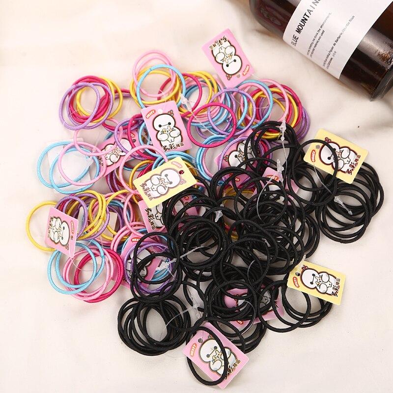 Aikelina 50 шт./лот резинки для волос хвост держатель резинки для волос Упругие аксессуары для девочек Для женщин многоцветный галстук резинка мода