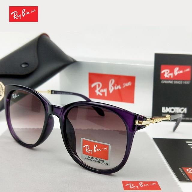 Ray Bin Sun 2018 Novo Clássico Da Moda Das Senhoras Das Mulheres Óculos de Sol  Feminino 7714aca964
