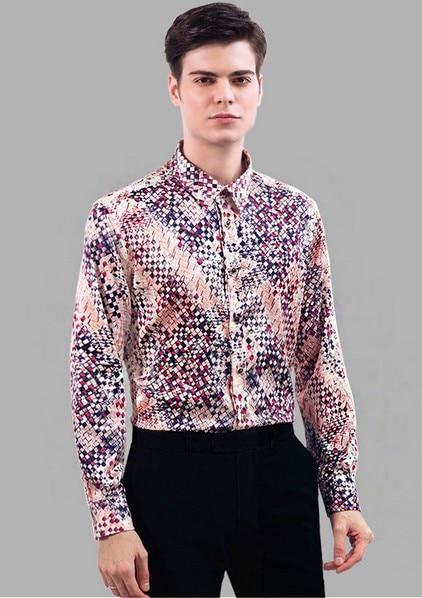 Men Satin Shirt Promotion-Shop for Promotional Men Satin Shirt on ...