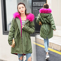 Winter Oversize Long Women Faux Fur Coat Army Green Pink Black