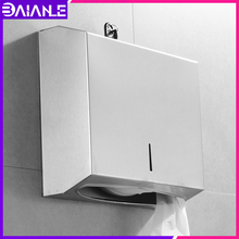 купить Toilet Paper Holder Box Waterproof Bathroom Stainless Steel Paper Towel Dispenser Wall Mounted WC Tissue Roll Paper Holder Rack дешево