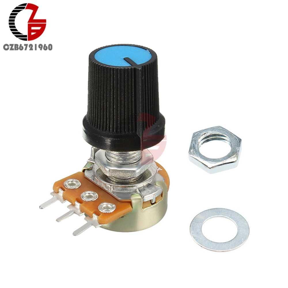 5 шт. красный Линейный Конус поворотный потенциометр резистор крышка ручка для Arduino 1K 2K 5K 10K 20K 50K 100K 250K 500K 1M Ом