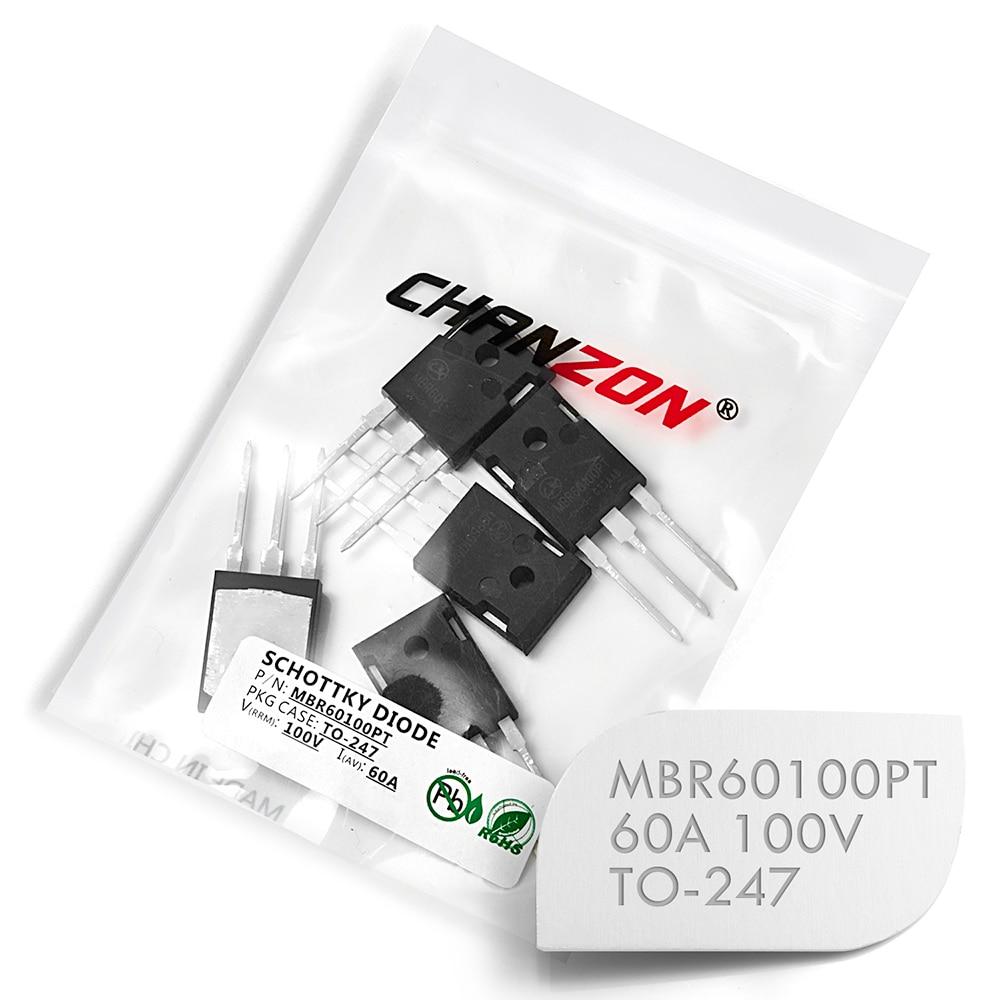 (5 Pcs) MBR60100PT Barriera Schottky Raddrizzatore A Diodi 60A 100 V TO-247 60 Amp 100 Volt MBR60100 PT