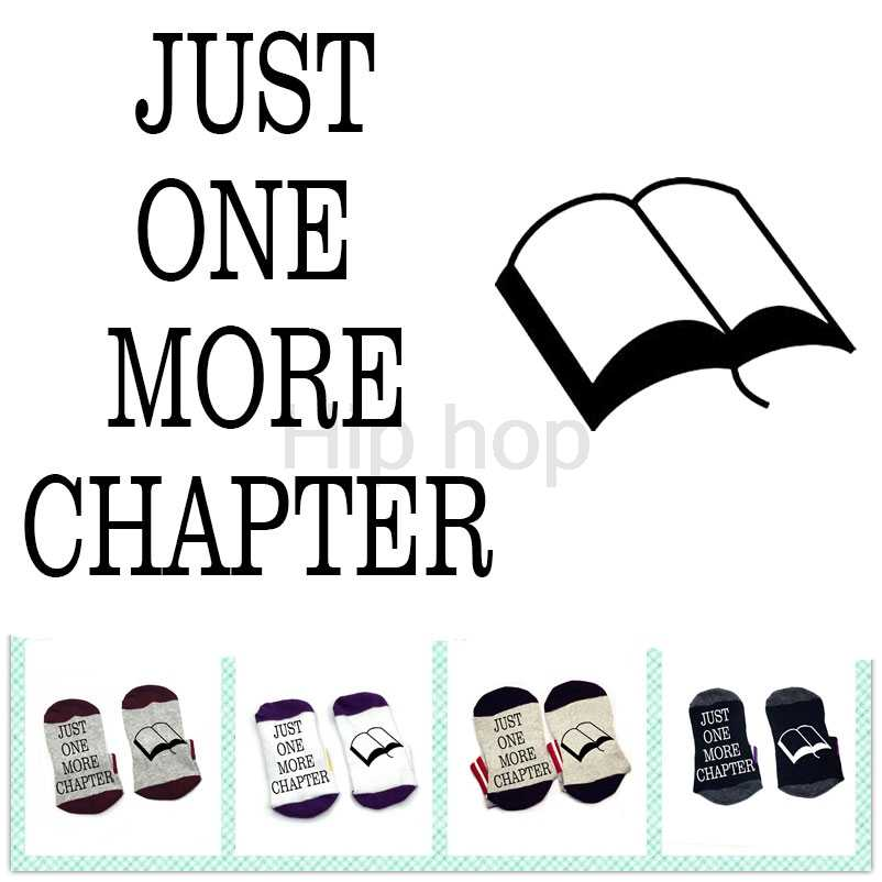 Books Socks Jus one more chapter socks cotton elastic comfortable unisex socks fashion sock