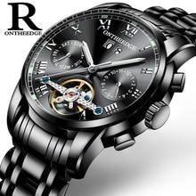 e7a049aaafe Relógios dos homens Automáticos Mecânicos Suíça Homem Relógio de Aço  Inoxidável Dos Homens Relógio de Pulso