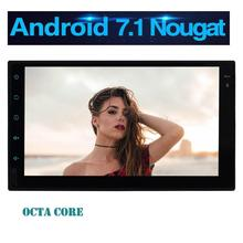 7″ HD Touchscreen Car Stereo Android 7.1 2Din GPS Navigation Auto Radio Entertainment Support WiFi/1080P Video/Mirrorlink/OBD2
