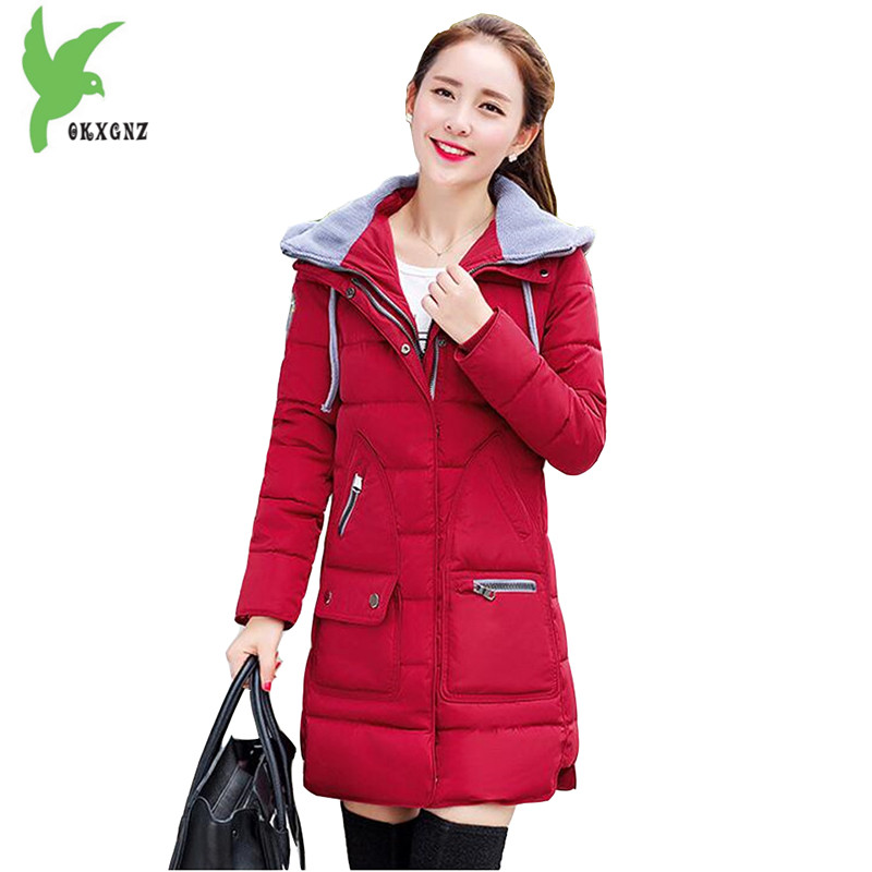 New Winter Women Student Down Cotton Jackets Fashion Solid Color Hooded Thicker Keep Warm Casual Tops Plus Size Coat OKXGNZ A754 winter women s cotton jackets new fashion hooded warm coats solid color thicker casual tops plus size slim outerwear okxgnz a735