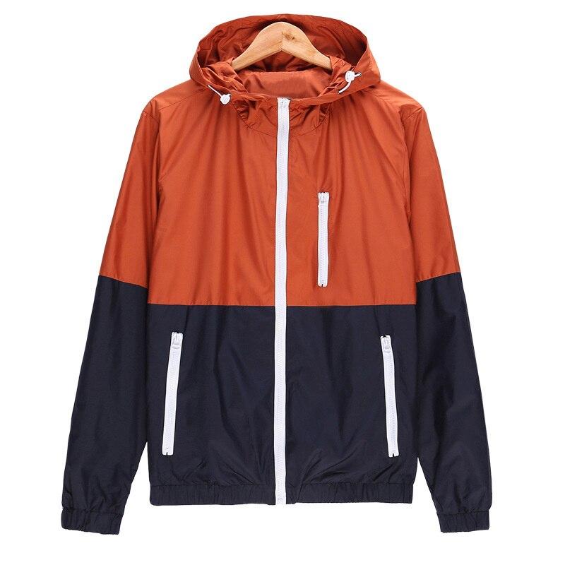 Man Thin jacket hip hop Streetwear Waterproof Coat Windproof Men Women Windbreakers Spring Autumn Casual Jacket Quick Dry Coat