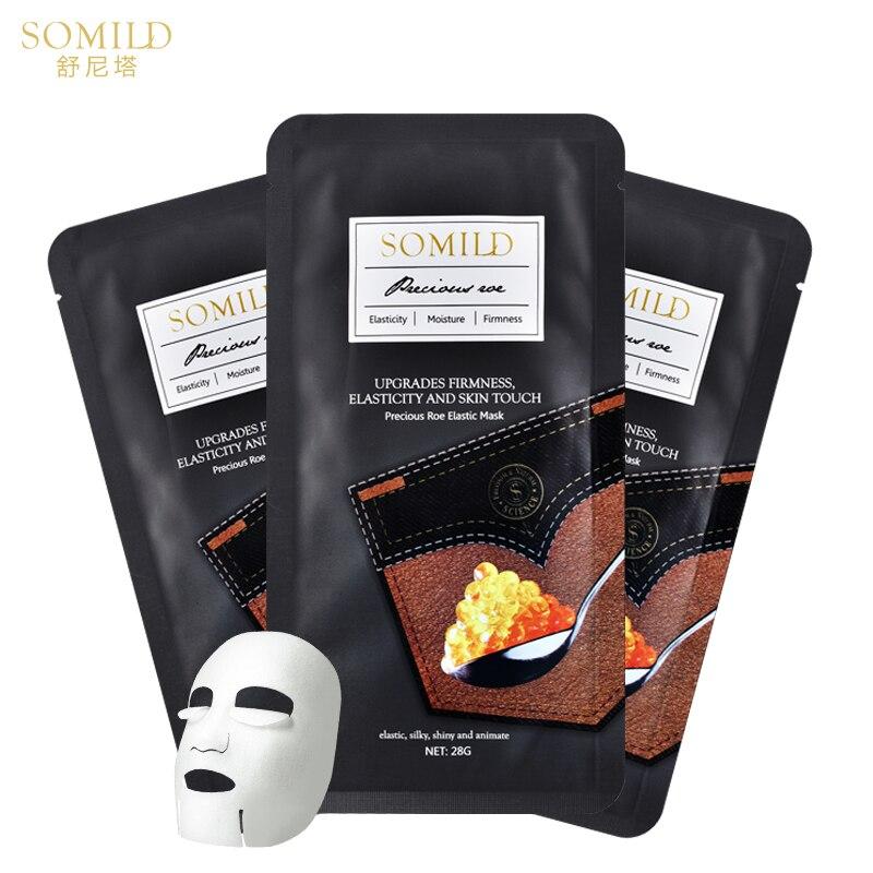 Korea Face Mask Aloe Vera Whitening Caviar Lift Facial Sheet Mask Amino Acid Moisturizing Skin Care Essence Face Mask Bubble