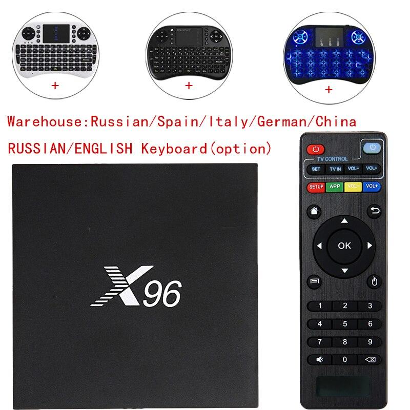X96 Android 6.0 TV Box Amlogic S905X Max 2 GB RAM + 16 GB ROM Quad Core 2.4 GHz WiFi HD 2.0 Lettore Multimediale Vedio Set top box Smart tv box