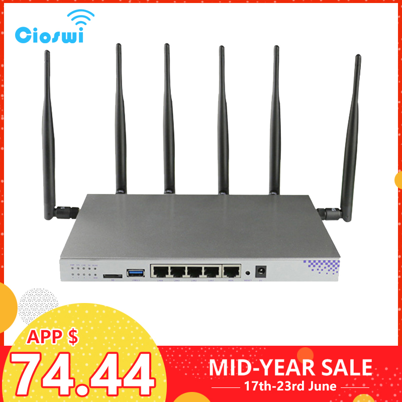 Routeur WiFi openWRT prise en charge Gigabit VPN PPTP L2TP 1200 Mbps 2.4 GHz/5 GHz USB 3.0 Port routeur 3G 4G avec Point d'accès à l'emplacement de la carte SIM