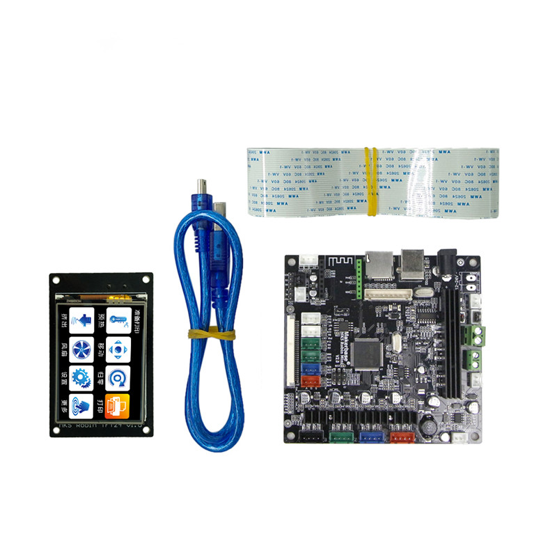 3D printer mainboard Robin Mini STM32 integrated board ARM control panel with touch screen 3d printer control panel red rabbit motherboard 3d print main control board 3 5 inch touch screen single head thermal resistance