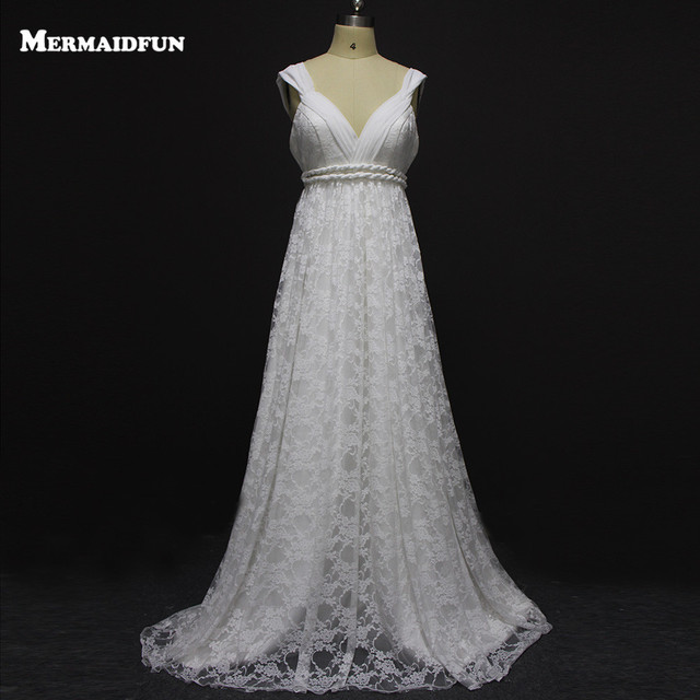 Vintage Boho Hochzeit Kleid Sexy Spitze Brautkleid Plus Size Strand