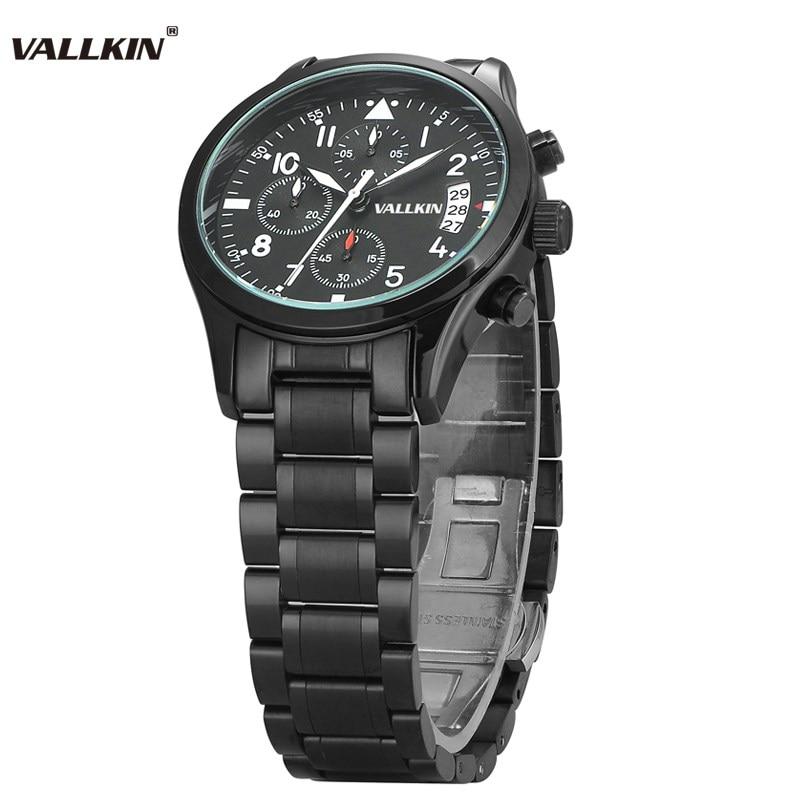 Mens de lujo negro relojes de pulsera masculina relojes de cuarzo - Relojes para hombres - foto 4