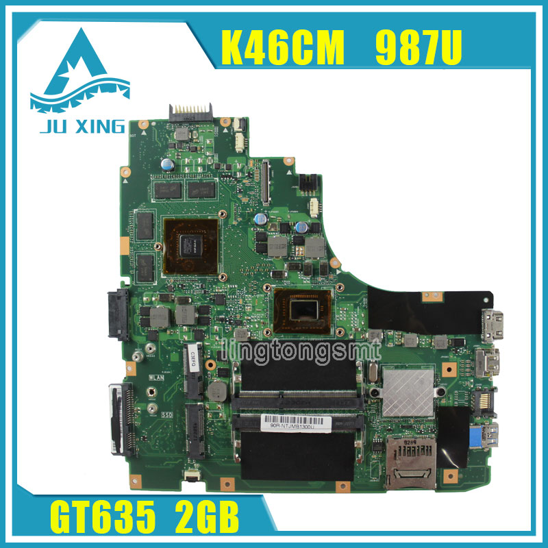 A46CB K46CM K46CB K46C motherboard for Asus K46CM REV2.0 Mainboard processor 987U GeForce GT 635M with 2GB DDR3 tested samxinno for asus x751ma motherboard x751md rev2 0 mainboard processor n2830 2g memory on board 100% test