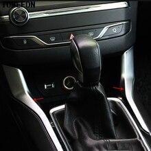 TOMEFON Авто Крышка Стайлинг для peugeot 308 2014 2015 2016 ABS Chrome шестерни сдвиг уровня Stick база пьедестал сбоку Бар отделкой 2 шт