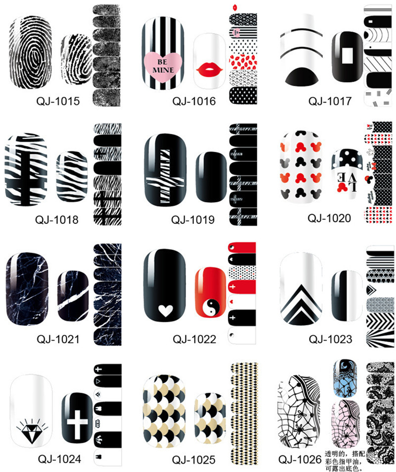 Beautiful Nail Art Sticker Patch Foil Adhesive French manicure Nail Sticker Decor Tools Cover Nail Wraps Decals BUY 3 GET 4 12x sexy colorful full cover nail art polish sticker metal adhesive foils patch diy beauty nail art tools y stzj 18